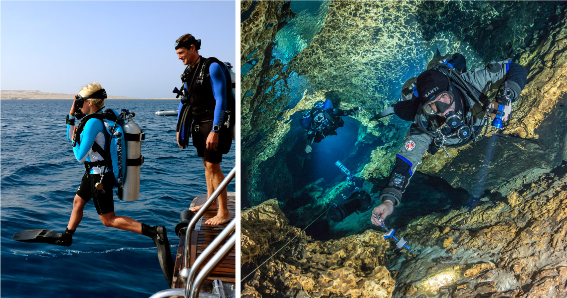 Universal platform for any dives