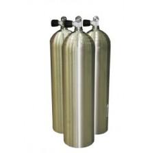 Баллон алюминиевый S 80 (11.1 л) 207 Bar, Моно Вентиль O2 Clean, Серебристый