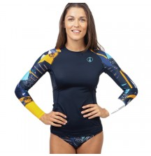 Рашгард Fourth Element Hydroskin Ocean Positive Длинный Рукав Midnight Pattern, жен.