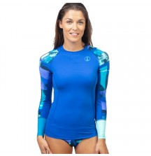 Рашгард Fourth Element Hydroskin Ocean Positive Длинный Рукав Blue Pattern, жен.