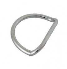 D-Ring OMS 5 cm Сталь, Изогнутый